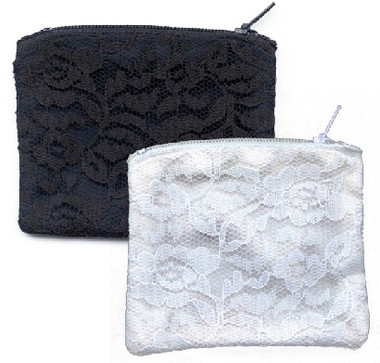 Chantilly Lace lined with Single Moire Rosary Pouch, case