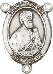 "St. Thomas the Apostle  - .75"" Oval - Sterling Silver Centerpiece"
