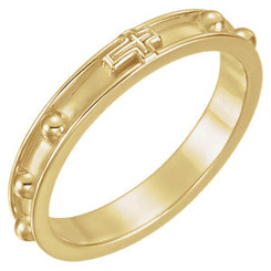 Beveled Rosary Ring