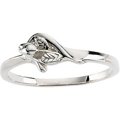 Sterling Silver Unblossomed Rose Ring