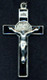 Nickel Silver With Black Enamel Inlay - St. Benedict Crucifix