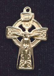 """Celtic Crucifix - 1"""" - Gold Filled"""