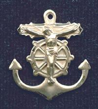 """Mariner Crucifix - 1"""" - Gold Filled"""
