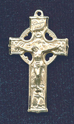 "Celtic Crucifix - 1.375"" - Gold Filled"