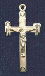 """La Salette Crucifix - 1.375"""" - Gold Filled"""
