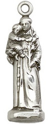 Sterling St. Anthony figurine medal