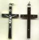 Ebony and Nickel Silver Crucifix