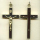 Ebony and Brass Crucifix