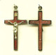 Rosewood and Brass Crucifix