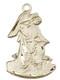 .875 gold filled Guardian angel medal