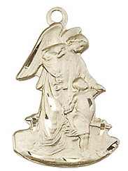 "Guardian Angel Figurine - .875"" - Gold Filled"