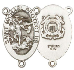 "St. Michael / Coast Guard - .875"" Oval - Pewter Double Sided Centerpiece"
