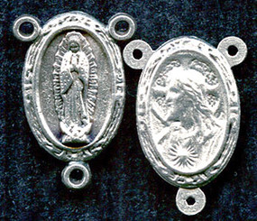 "Our Lady of Guadelupe / Sacred Heart - .75"" - Double Sided Nickel Silver Centerpiece"