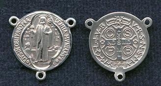 "St. Benedict Jubilee - .625"" - Sterling Silver Centerpiece"
