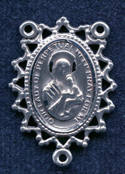 """Filigree Our Lady of Perpetual Help - 1"""" - Sterling Silver Centerpiece"""