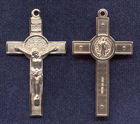 "St. Benedict Crucifix - 1.6"" - Gold Filled"