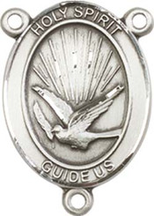 "Holy Spirit  - .75"" Oval - Pewter Centerpiece"