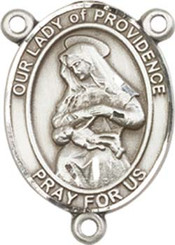 """Our Lady of  Providence - .75"""" Oval - Pewter Centerpiece"""