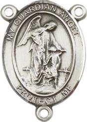 "Guardian Angel  - .75"" Oval - Pewter Centerpiece"