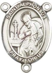 "St. Alphonsus - .75"" Oval - Pewter Centerpiece"