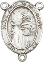 "St. John of the Cross  - .75"" Oval - Pewter Centerpiece"