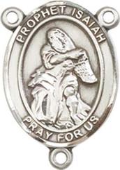 "Prophet Isaiah - .75"" Oval - Pewter Centerpiece"