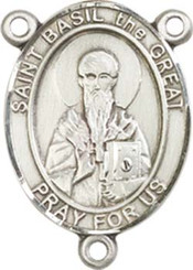"St. Basil the Great - .75"" Oval - Pewter Centerpiece"
