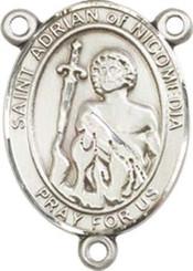"St. Adrian Of Nicomedia - .75"" Oval - Pewter Centerpiece"