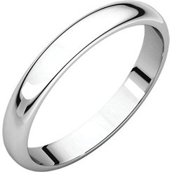 Sterling Silver Plain Band Ring - 3mm