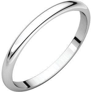 Sterling Silver Plain Band ring - 2mm