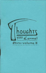 Thoughts From Carmel, Volume II Booklet