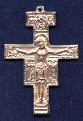"San Damiano Crucifix - 2"" - Gold Filled"