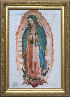 Sisters Of Carmel Our Lady Of Guadalupe Framed Print