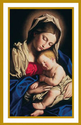 Sleep Holy Babe Holy Card