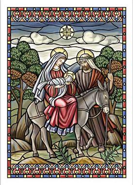 Flight into Egypt Christmas Card