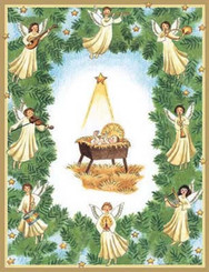 Baby in a Manger Christmas Card