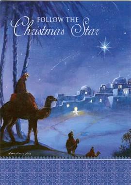 Follow the Christmas Star Christmas Card