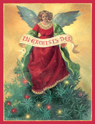 Treetop Angel Christmas Card