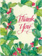 Holly and Berries Christmas Thank You Card
