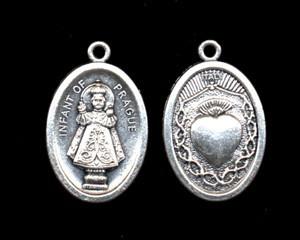 "Infant of Prague - 1"" - Nickel Silver"