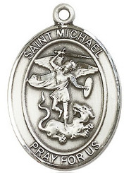 "St. Michael the Archangel Medal - .75"" - Sterling Silver"