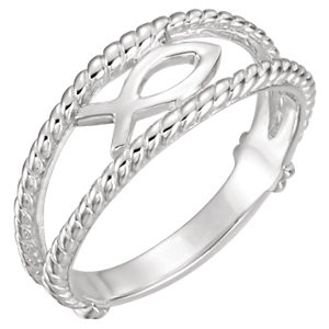 Sterling Silver Ichthus (Fish) Ring