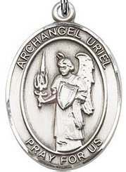 """Archangel Uriel - .75"""" - Pewter"""