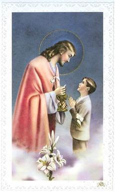 Communion Card - Boy