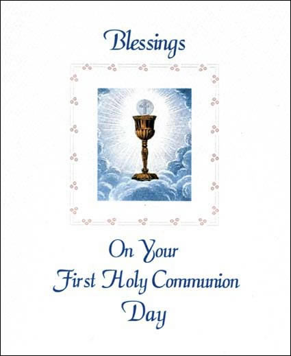 Sisters of carmel first holy communion greeting card first holy communion greeting card m4hsunfo