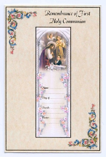Sisters Of Carmel First Communion Greeting Card