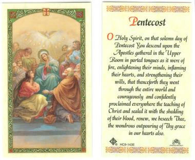 Pentecost Holy Card