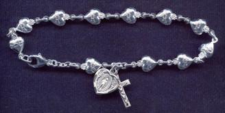 Sacred Heart of Jesus Rosary Bracelet