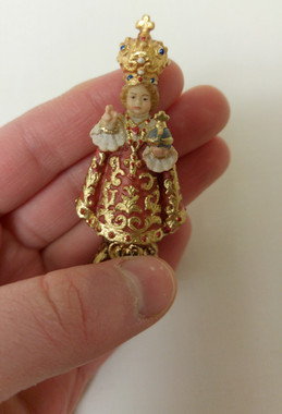 "Miniature Statue - Infant of Prague 2.5"""