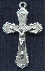 "Crown of Thorns Crucifix - 1.75"" - Pewter"